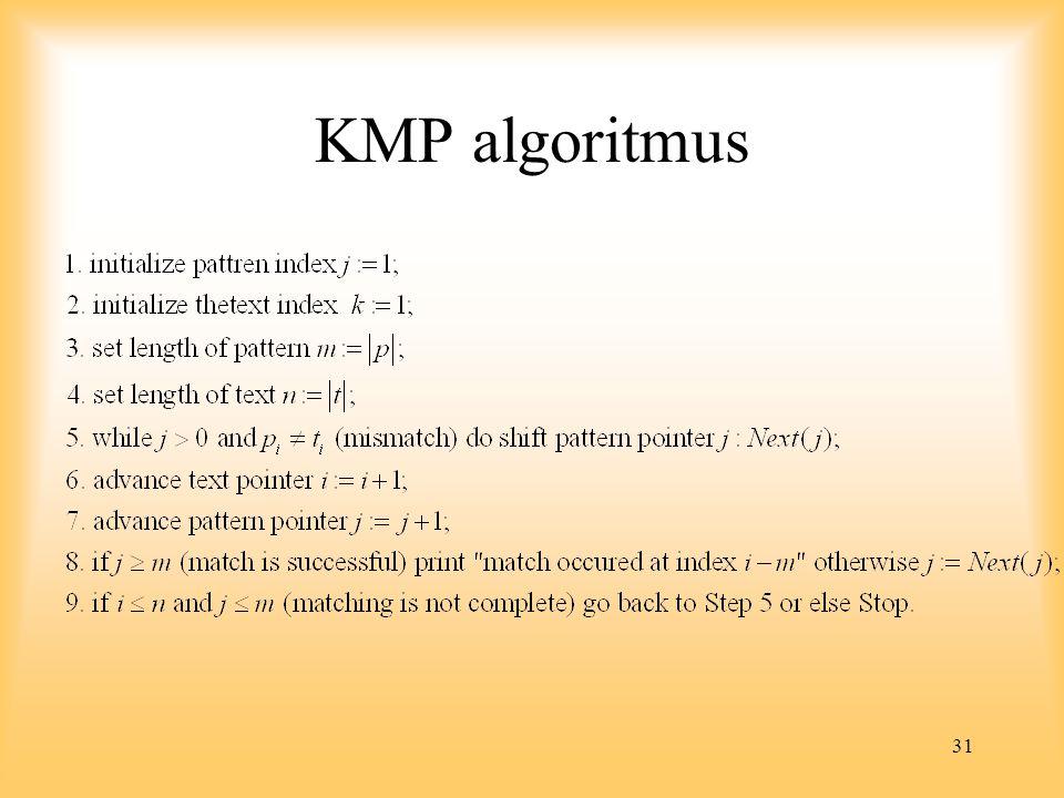 31 KMP algoritmus