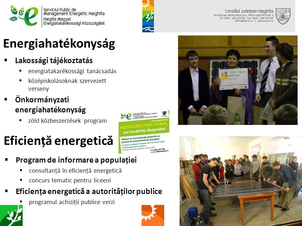 Energiafüggetlen települések  megújuló energia potenciál Hargita megyében  megyei önkormányzatok körében kérdőíves felmérés  vízenergia, napenergia és biomassza potenciál - összegző tanulmányok  megújuló energia beruházásokat megalapozó tanulmányok készítése  megújuló energia beruházások kézikönyve  varsági kisvízerőmű, karcfalvi biomassza erőmű előtanulmányok Localități independente energetic  potențialul energiilor regenerabile din județul Harghita  sondaj în cadrul autorităților locale  potențialul de hidroenergie, de energie solară și biomasă – studii realizate  megújuló energia beruházásokat megalapozó tanulmányok  manual de investiții în domeniul energiilor regenerabile  studii preliminare ale microhidrocentralei din Vărșag și al centralei pe biomasă din Cârțani