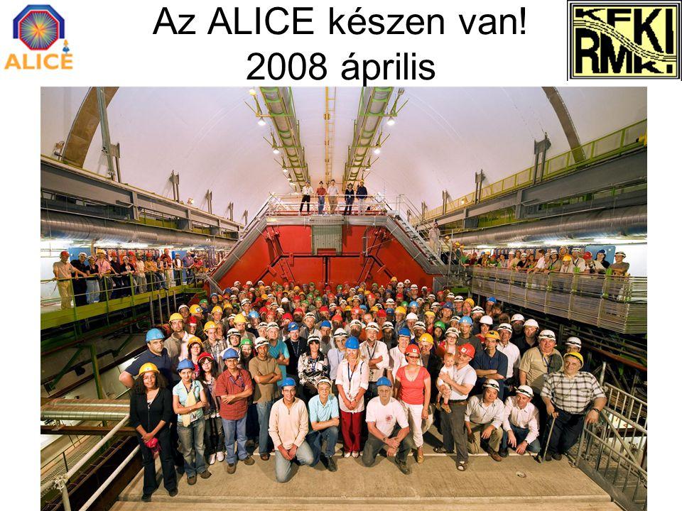 Az ALICE készen van! 2008 április