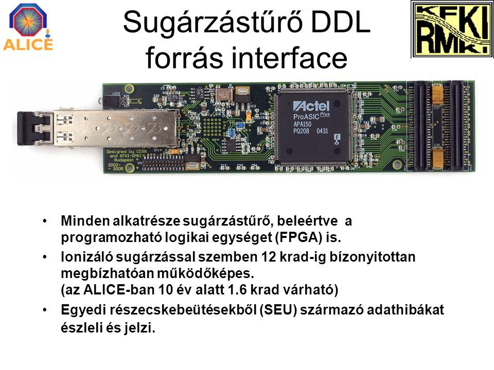 Sugárzástűrő DDL forrás interface Minden alkatrésze sugárzástűrő, beleértve a programozható logikai egységet (FPGA) is.