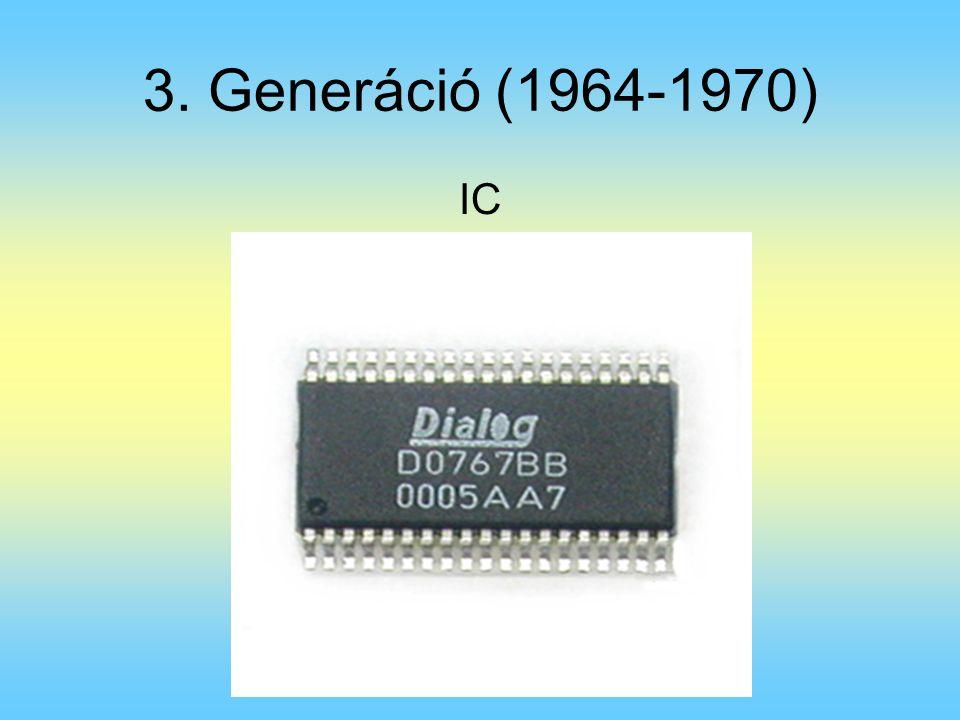 3. Generáció (1964-1970) IC