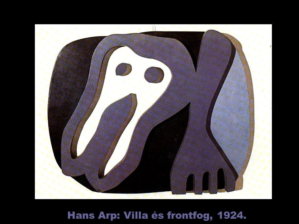Hans Arp: Villa és frontfog, 1924.