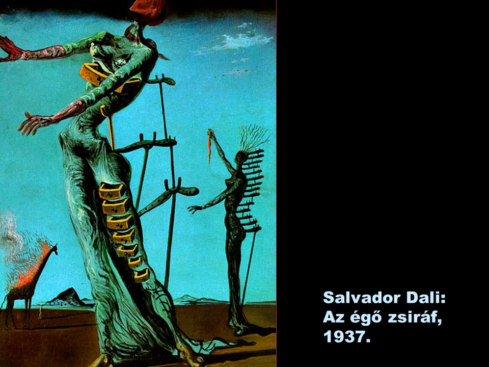 Salvador Dali: Az égő zsiráf, 1937.