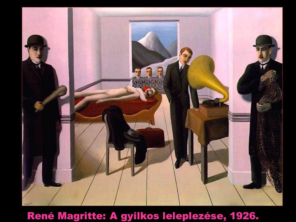 René Magritte: A gyilkos leleplezése, 1926.