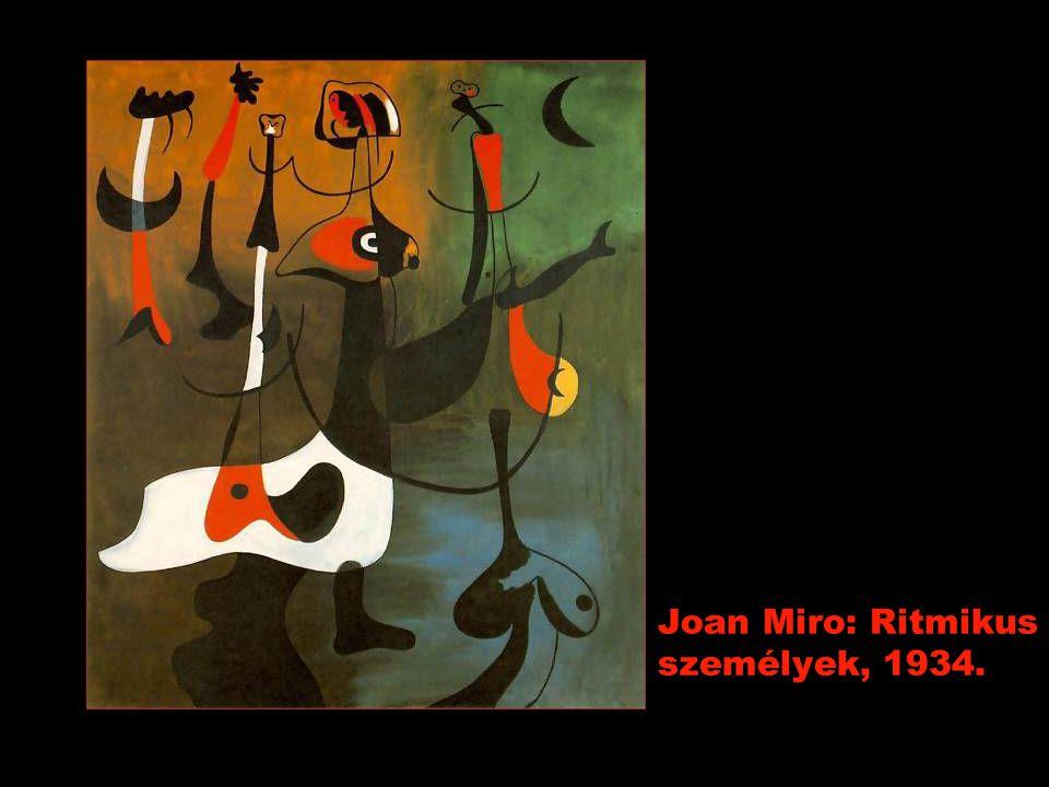 Joan Miro: Ritmikus személyek, 1934.