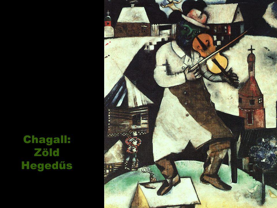 Chagall: Zöld Hegedűs