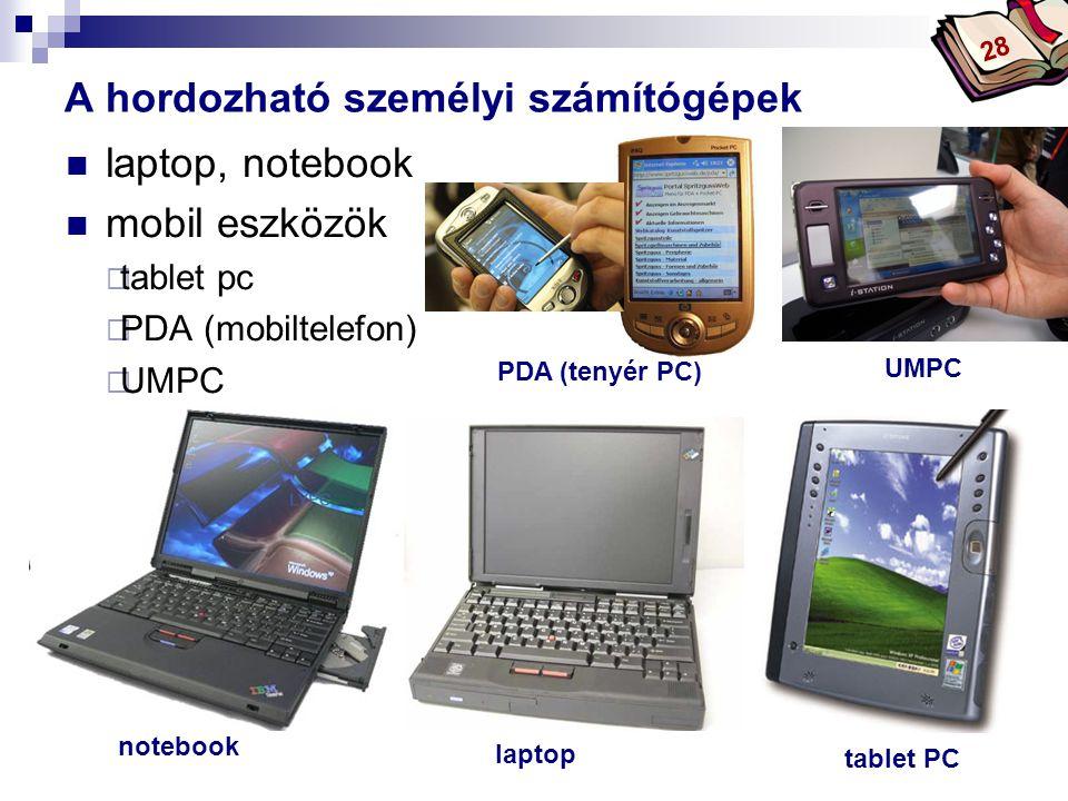 Bóta Laca laptop, notebook mobil eszközök  tablet pc  PDA (mobiltelefon)  UMPC A hordozható személyi számítógépek 28 notebook PDA (tenyér PC) tablet PC laptop UMPC
