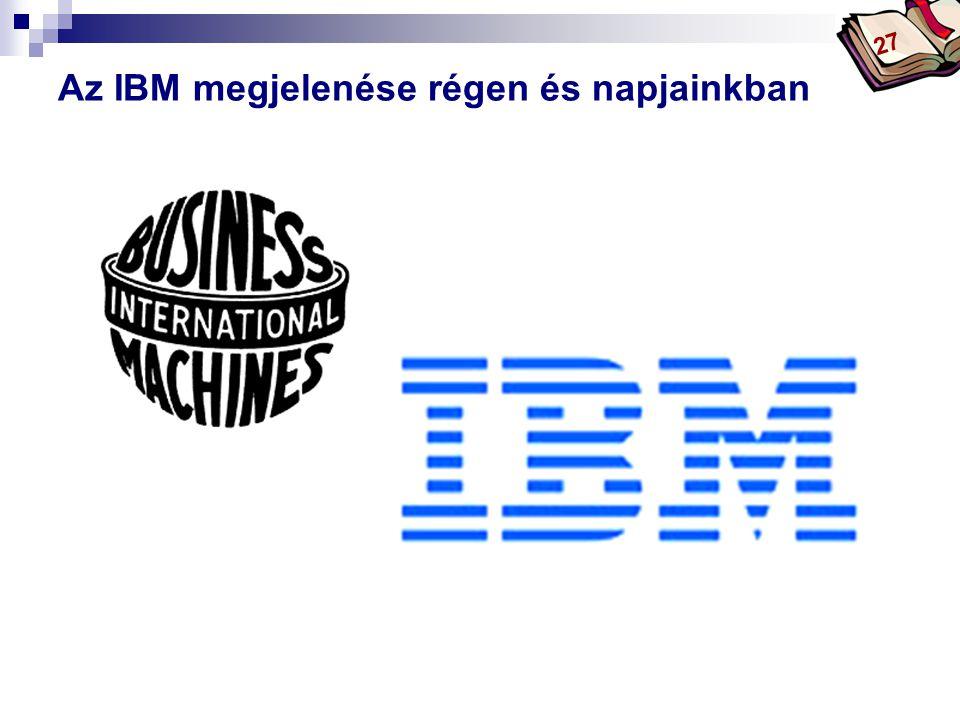 Bóta Laca Az IBM megjelenése régen és napjainkban 27