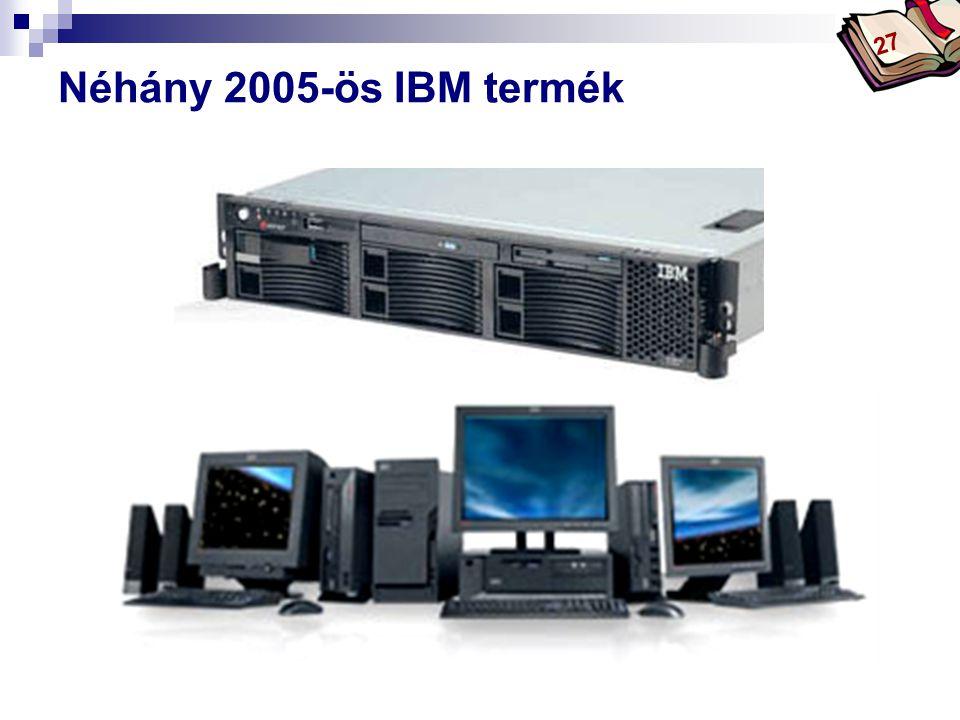 Bóta Laca Néhány 2005-ös IBM termék 27