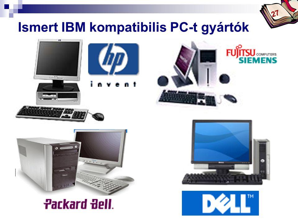 Bóta Laca Ismert IBM kompatibilis PC-t gyártók HP-COMPAQ 27
