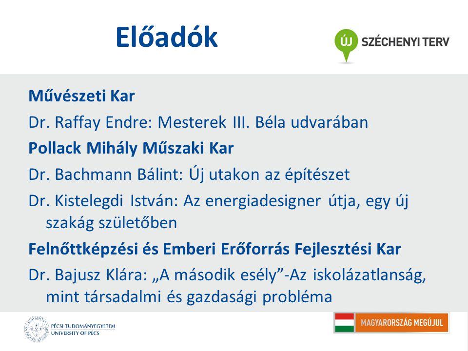 Előadók Művészeti Kar Dr. Raffay Endre: Mesterek III.