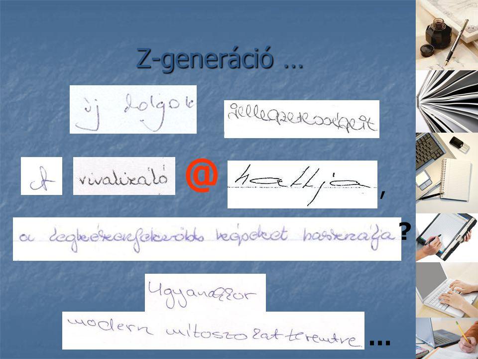 Z-generáció … @, ? …
