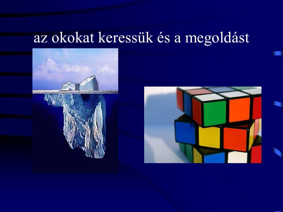az okokat keressük és a megoldást