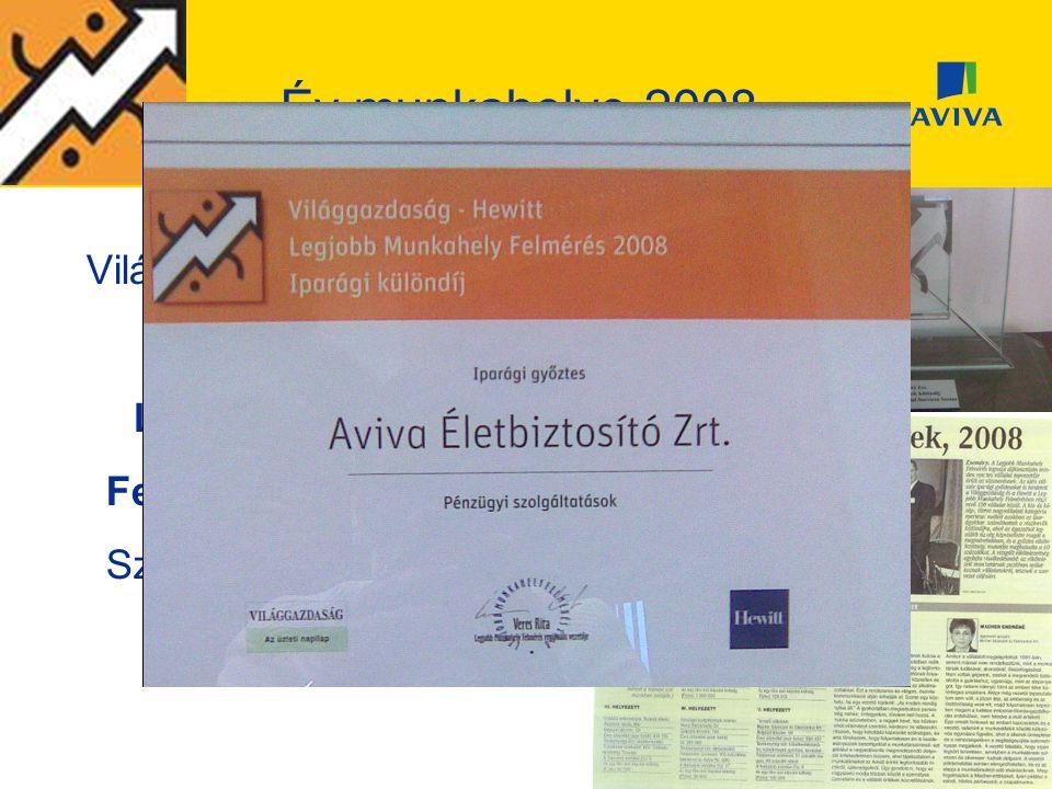 Év munkahelye 2008 Világgazdaság-Hewitt által készített 2008-as Legjobb Munkahely Felmérésen a Pénzügyi Szolgáltatók Iparágában az 1. helyezés