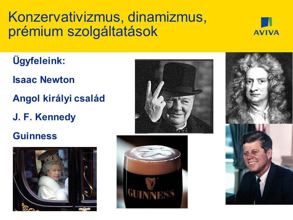 Konzervativizmus, dinamizmus, prémium szolgáltatások Ügyfeleink: Isaac Newton Angol királyi család J. F. Kennedy Guinness Churchill…