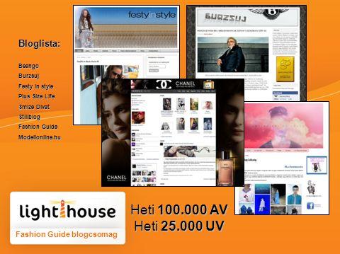 Fashion Guide blogcsomag Bloglista:BeangoBurzsuj Festy in style Plus Size Life Smize Divat Stillblog Fashion Guide Modellonline.hu Heti 100.000 AV Heti 25.000 UV