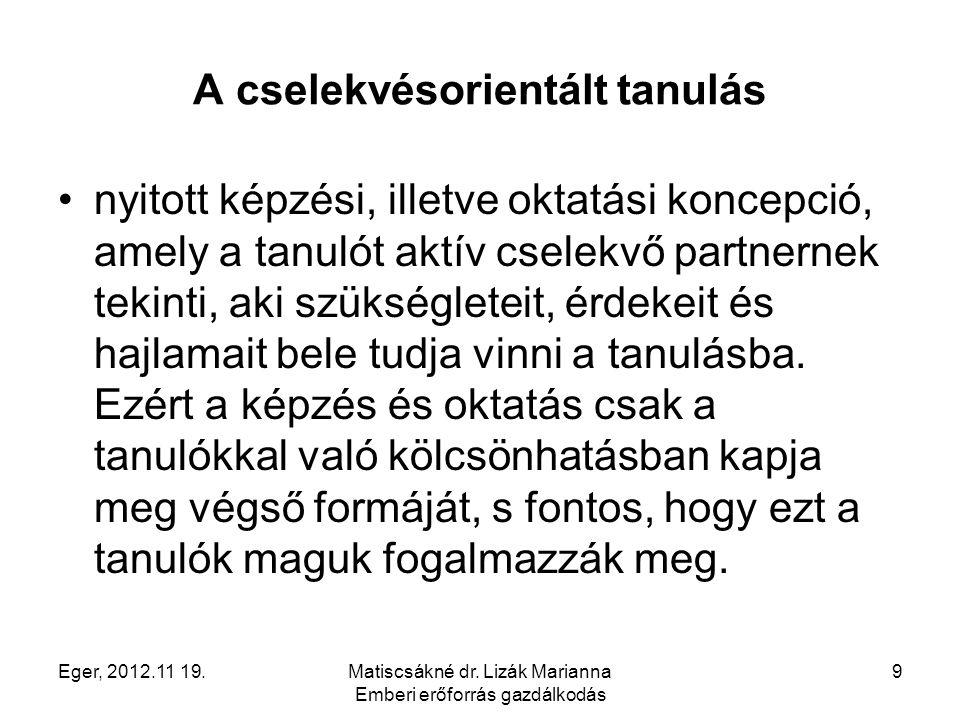 Eger, 2012.11 19.Matiscsákné dr.Lizák Marianna Emberi erőforrás gazdálkodás 20 3.