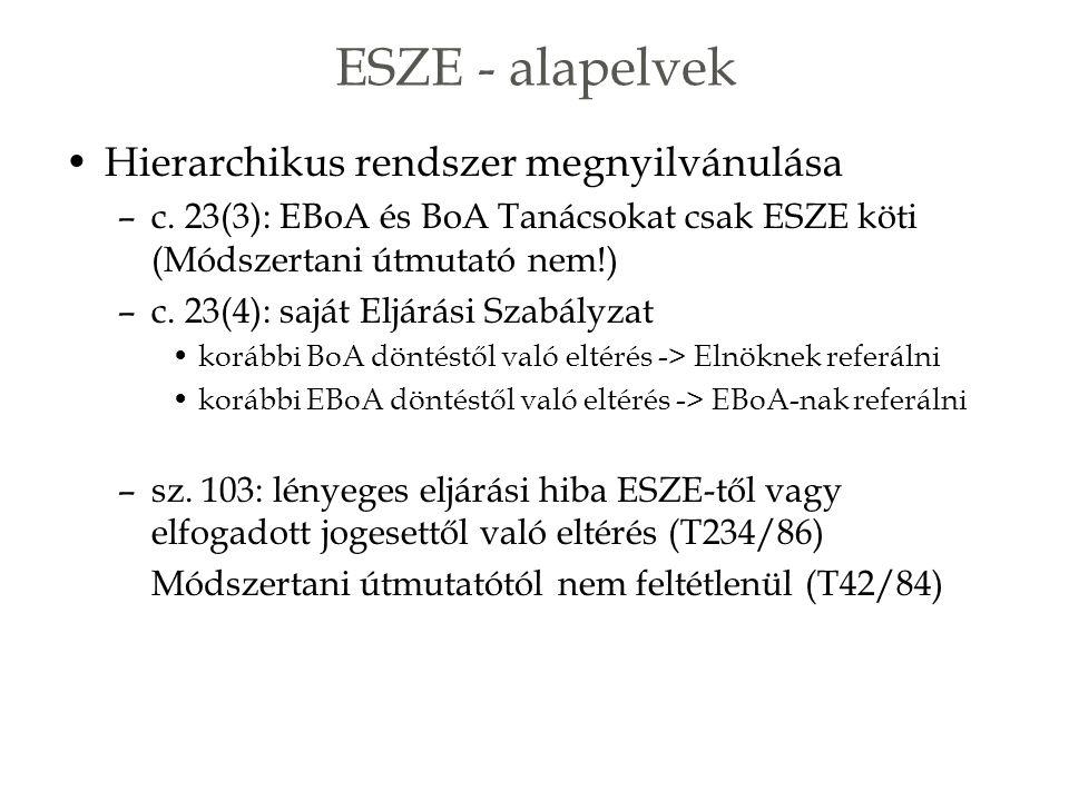 ESZE - alapelvek Hierarchikus rendszer megnyilvánulása –c.