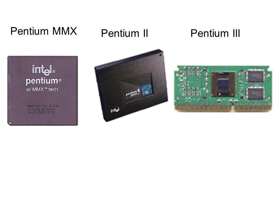 Pentium MMX Pentium IIPentium III