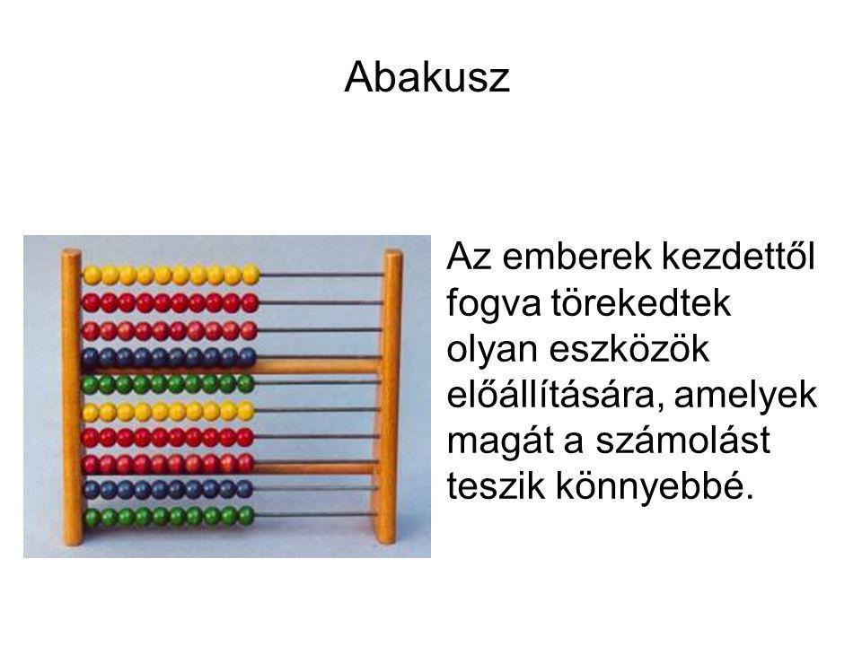 Az emberek kezdettől fogva törekedtek olyan eszközök előállítására, amelyek magát a számolást teszik könnyebbé. Abakusz