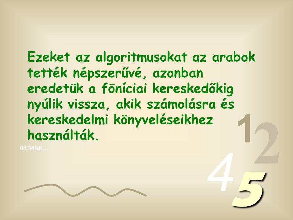 A számok, amiket írunk, algoritmusokból állnak (1, 2, 3, 4 stb.), melyeket arab algoritmusoknak nevezünk, megkülönböztetve őket a római algoritmusoktól (I; II; III; IV stb.).