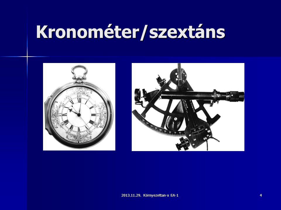 2013.11.29. Környezettan-x EA-14 Kronométer/szextáns