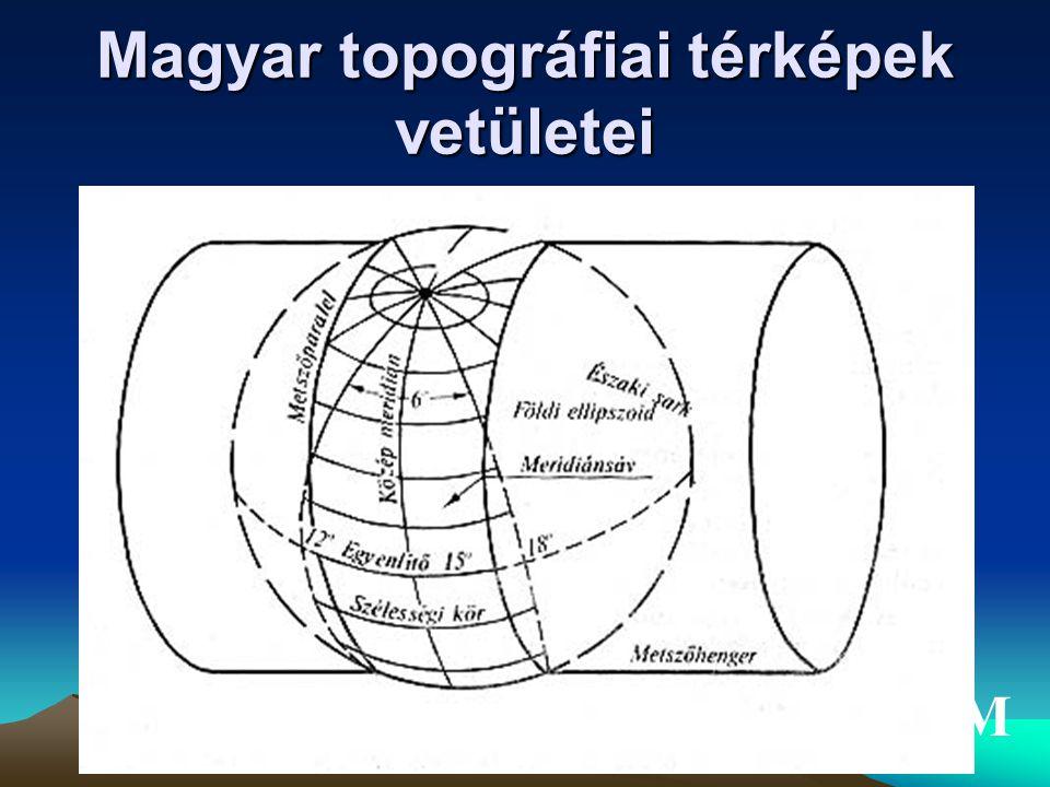 Gauss-Krüger vetületi rendszer(III) Magyar topográfiai térképek vetületei