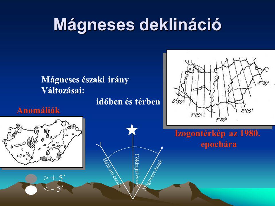 Vetületi meridián konvergencia meridián hálózat  Hálózati észak Földrajzi észak