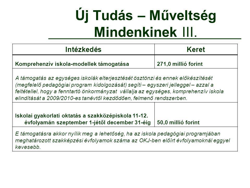 Többcélú kistérségi társulások közoktatási célú támogatásai II.