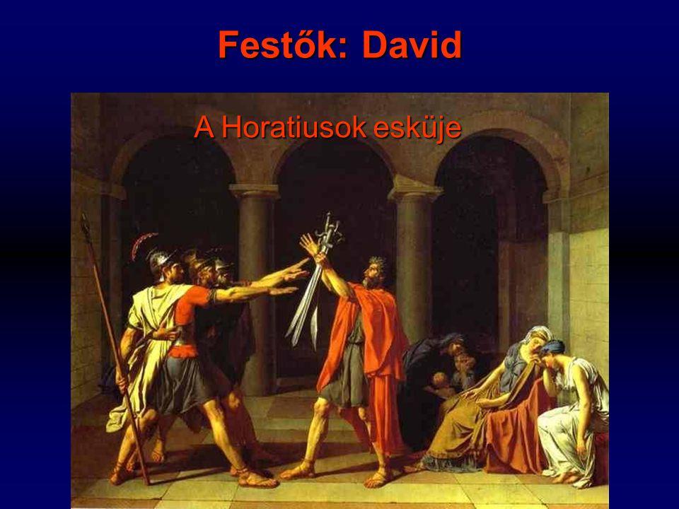 Festők: David A Horatiusok esküje