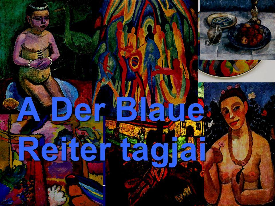 A Der Blaue Reiter tagjai