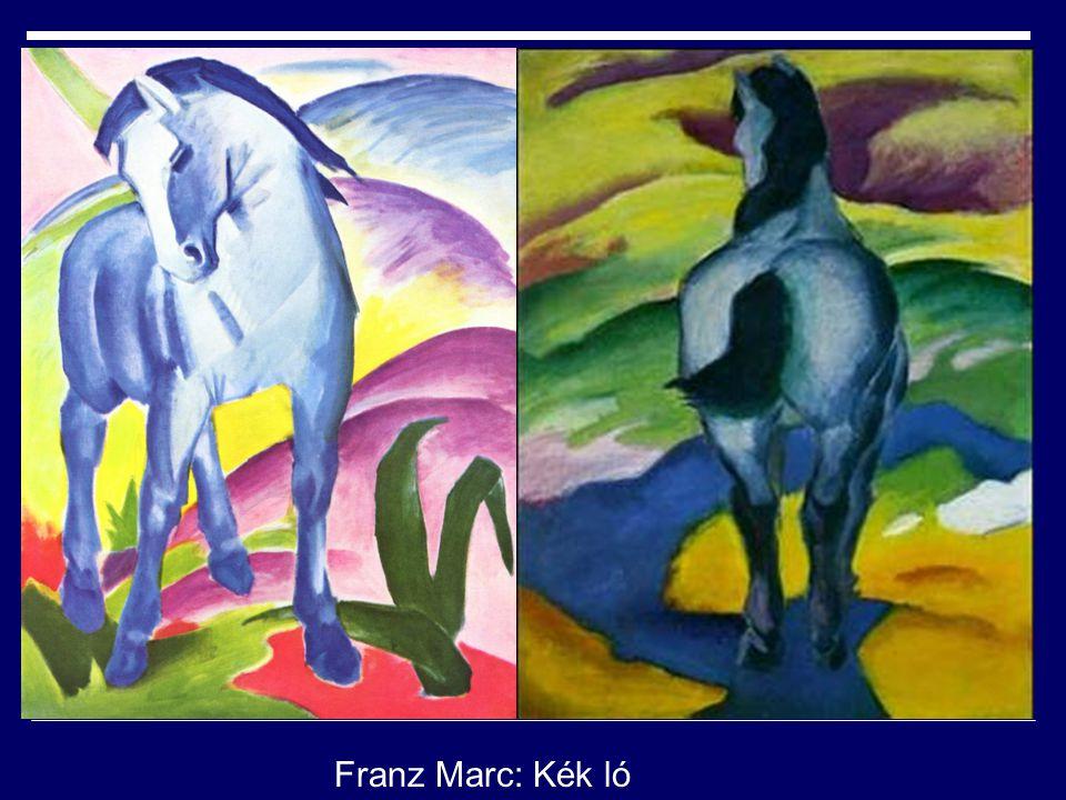lelkesedést, ámulatot Franz Marc: Kék ló