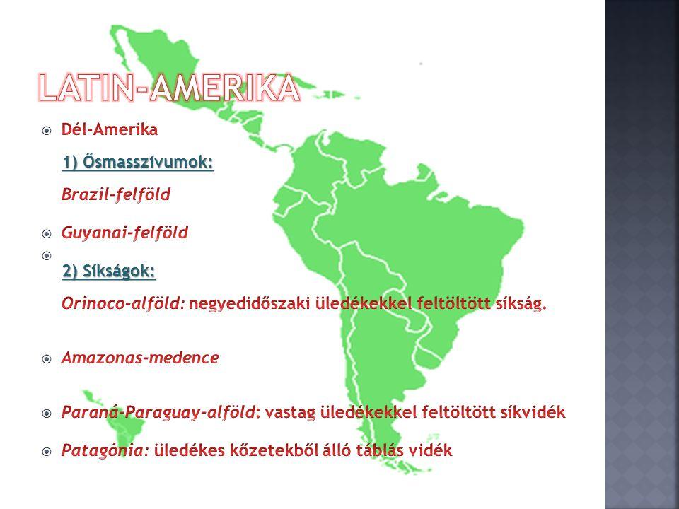  a) A városlakók aránya Latin-Amerikában b) A városlakók aránya az USA-ban  a) Az aktív keresők aránya a mezőgazdaságban Latin-Amerikában b) Az aktív keresők aránya a iparban Latin-Amerikában  a) Az Atlanti-óceánba ömlő folyók hossza Dél-Amerikában b) A Csendes-óceánba ömlő folyók hossza Dél-Amerikában  a) A nehézipar szerepe Brazília gazdasági életében b) A nehézipar szerepe Argentína gazdasági életében  a) Az ipari termelés részesedése a GDP értékéből Latin-Amerikában b) A mezőgazdasági termelés részesedése a GDP értékéből Latin- Amerikában A =a nagyobb, mint b B =b nagyobb, mint a C =a és b egyforma, vagy megközelítően azonos