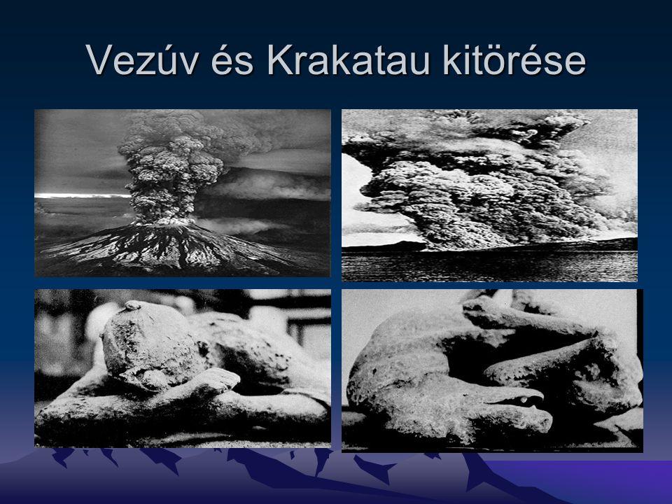 Vezúv és Krakatau kitörése