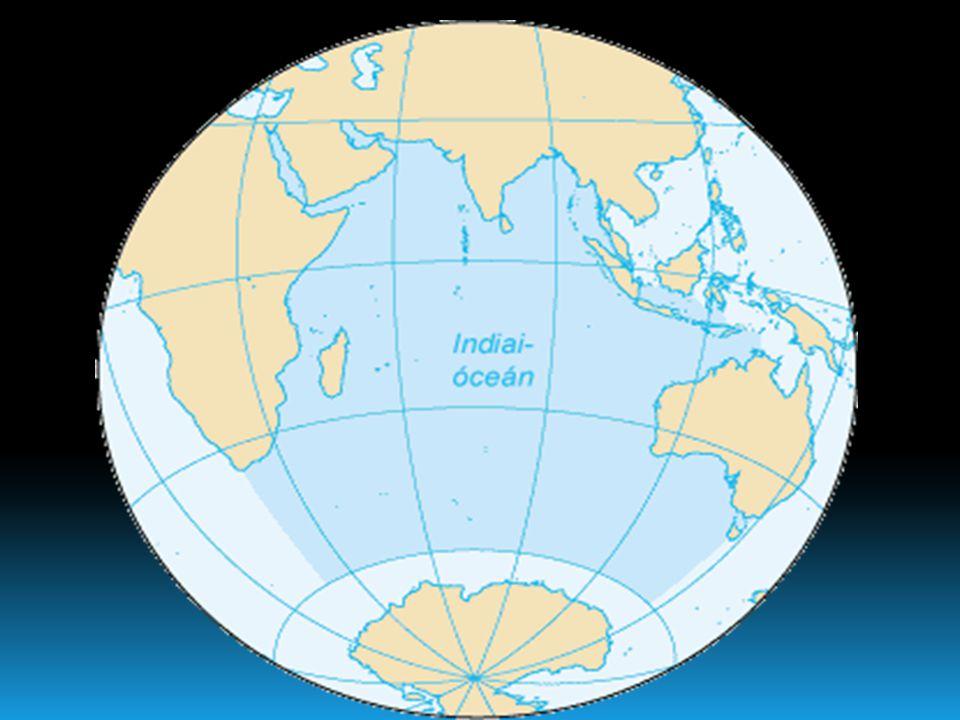 Indiai-óceán  Az Indiai-óceán a világtengerek egyike, a harmadik legnagyobb vízfelület a Földön. Nyugaton Afrika, északon Ázsia, keleten a Szunda- sz