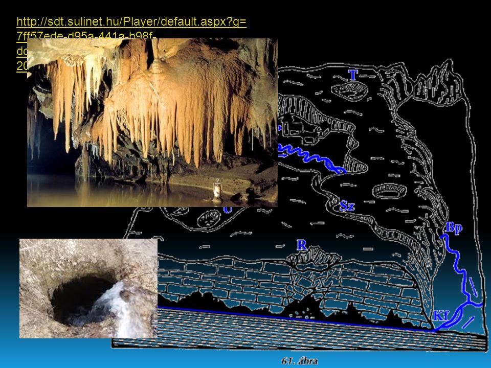 Víznyelő Tölcsér alakú mélyedés Dolina Kerekded berogyás ( több dolina = uvala) Polje Több km2.nyi kiterjedésű besüppedés Karr Mészkőbe vájt barázdált