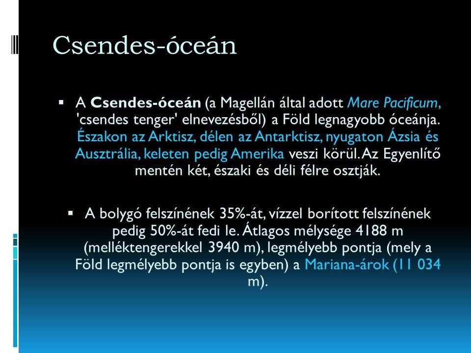 Óceánok felosztása