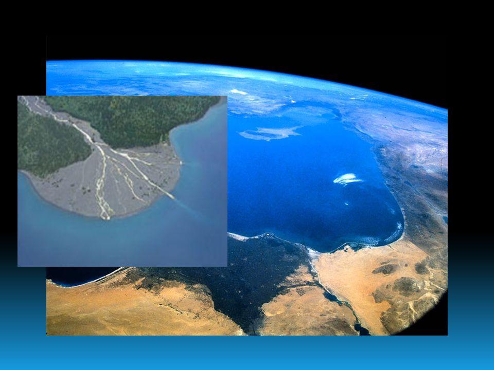 Delta-torkolat NNagy mennyiségû finomszemcsés szilárd törmeléket szállító folyók torkolatánál a szállítási energia jelentõsen csökken, s a szállítot