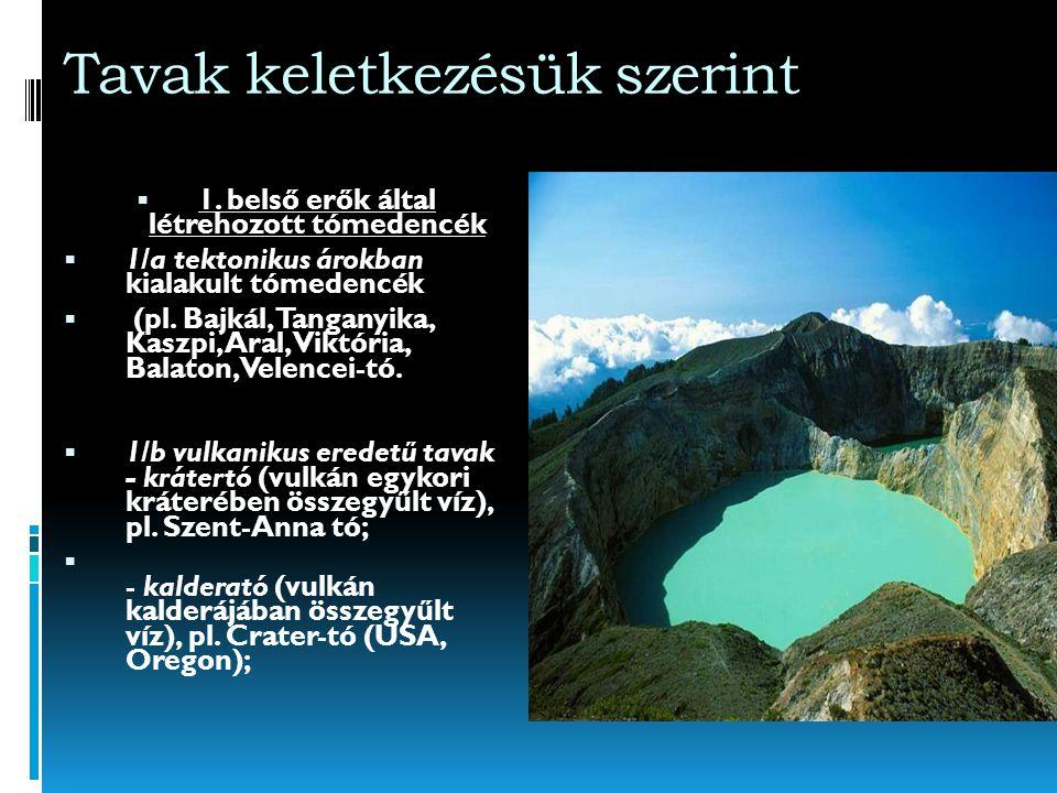 Tavak AA tó minden oldalról zárt mélyedést kitöltő, nyílt vízfelületű állóvíz