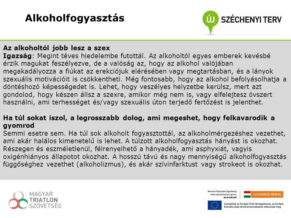 Fontos, hogy az alkohol okozta problémák csökkentésénél részt kell venni a családnak, az iskolának, a közösségnek és az általában vett társadalomnak és döntéshozóknak.