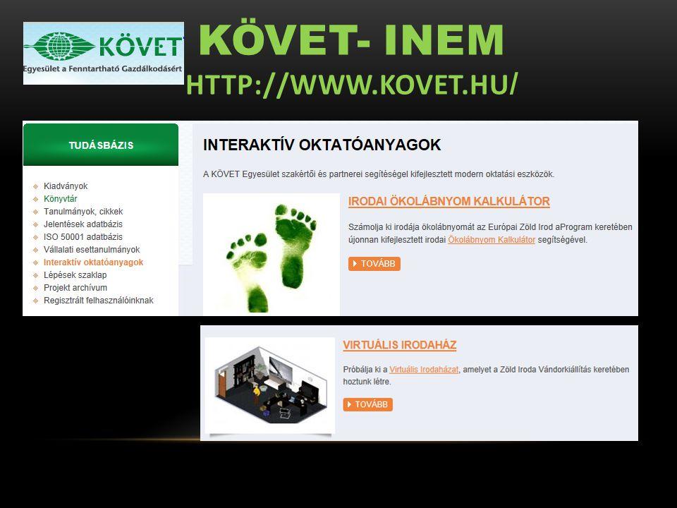 KÖVET- INEM HTTP://WWW.KOVET.HU /