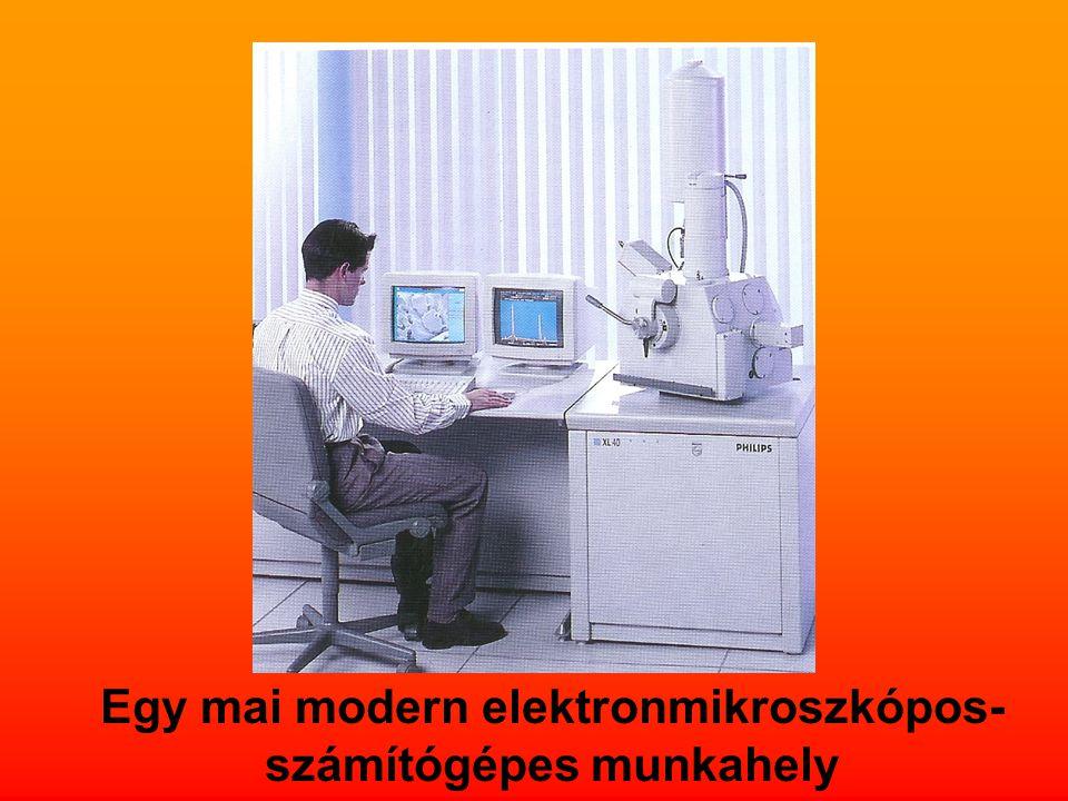 Egy mai modern elektronmikroszkópos- számítógépes munkahely