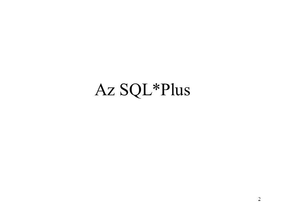 2 Az SQL*Plus