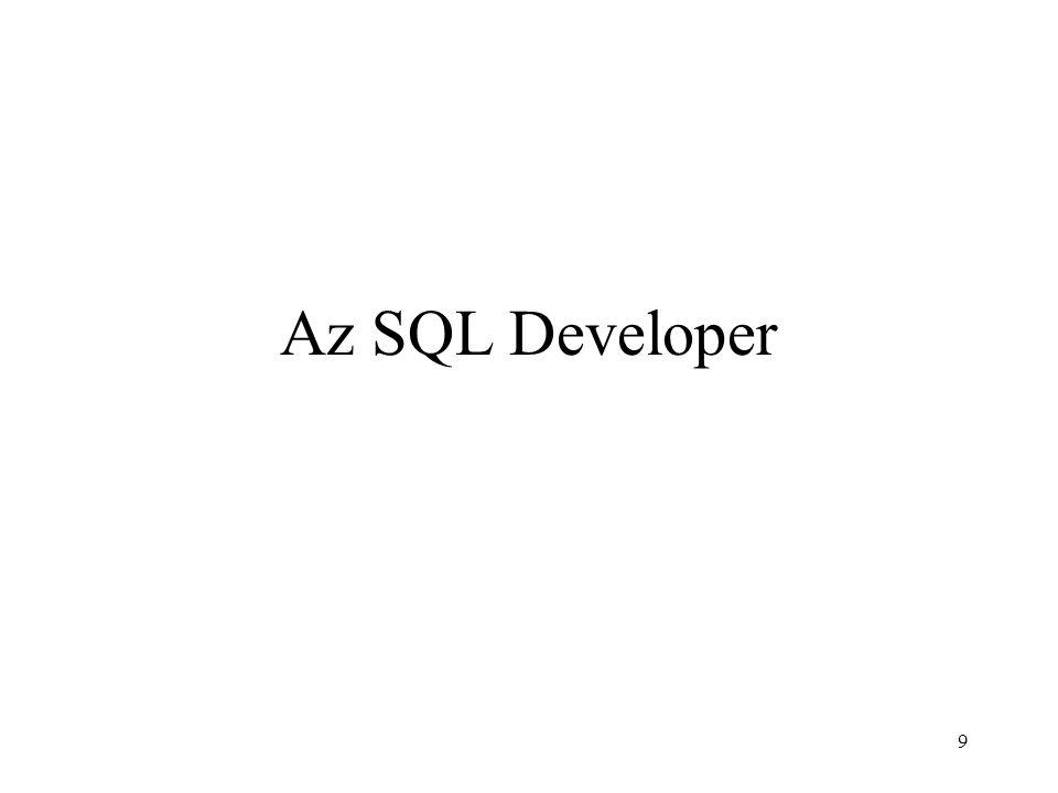 9 Az SQL Developer