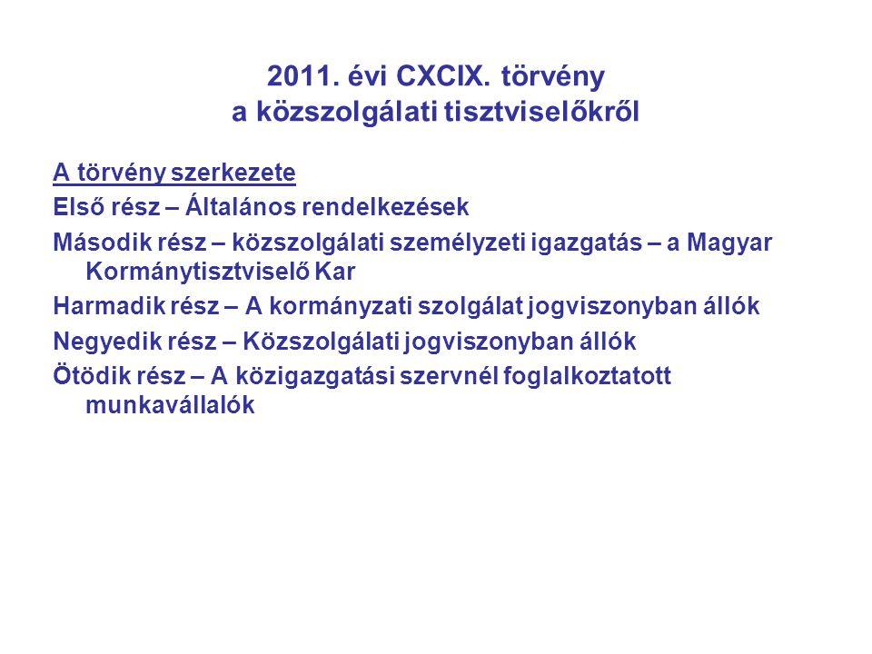 2011.évi CXCIX.
