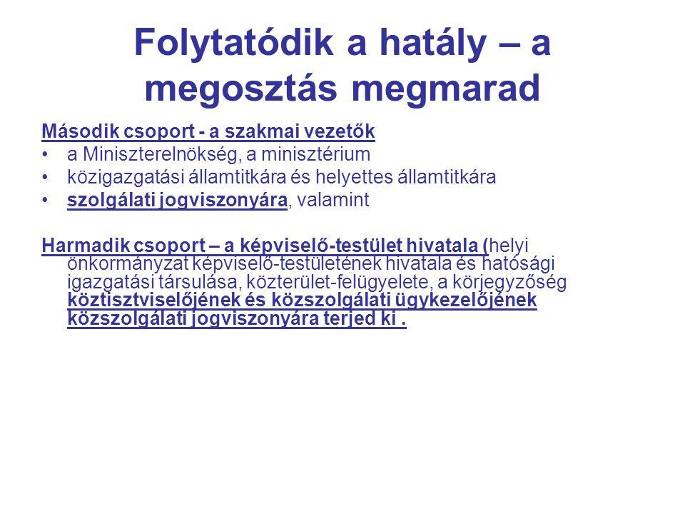 A tagsági jogviszony – belépéskényszer Tag, akit kineveztek - Az MKK tagja az a magyar állampolgár, aki államigazgatási szervnél kormánytisztviselői kinevezést kapott.