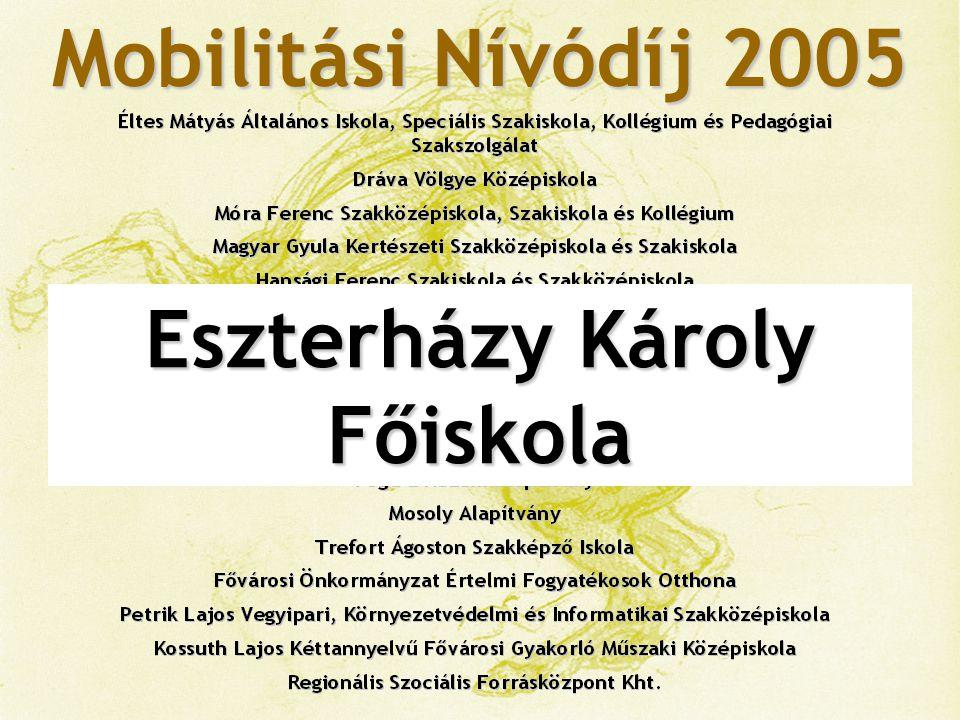 Mobilitási Nívódíj 2005 Bács-Kiskun Megyei Önkormányzat Kórháza, a Szegedi Tudományegyetem Általános Orvostudományi Kar Oktató Kórháza