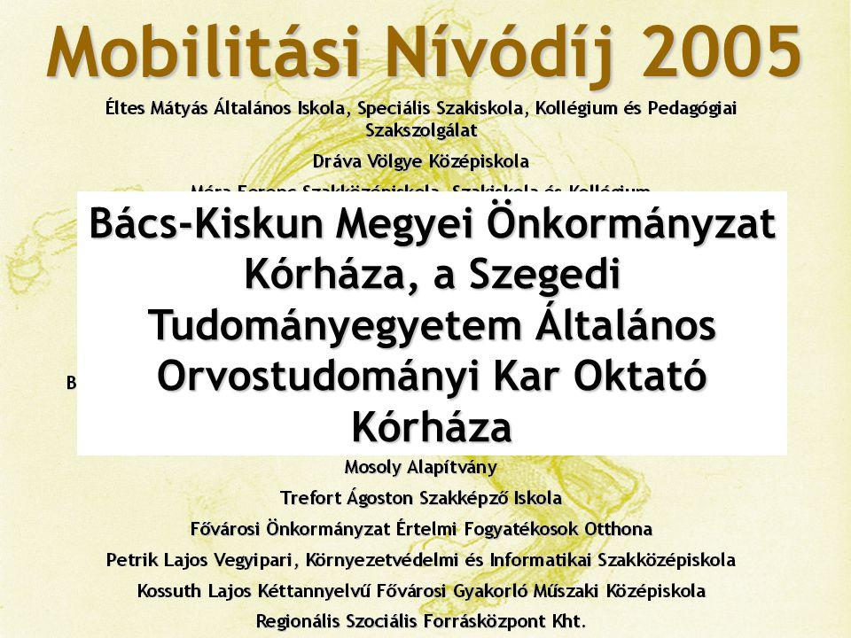 Mobilitási Nívódíj 2005 Fogd a Kezem Alapítvány