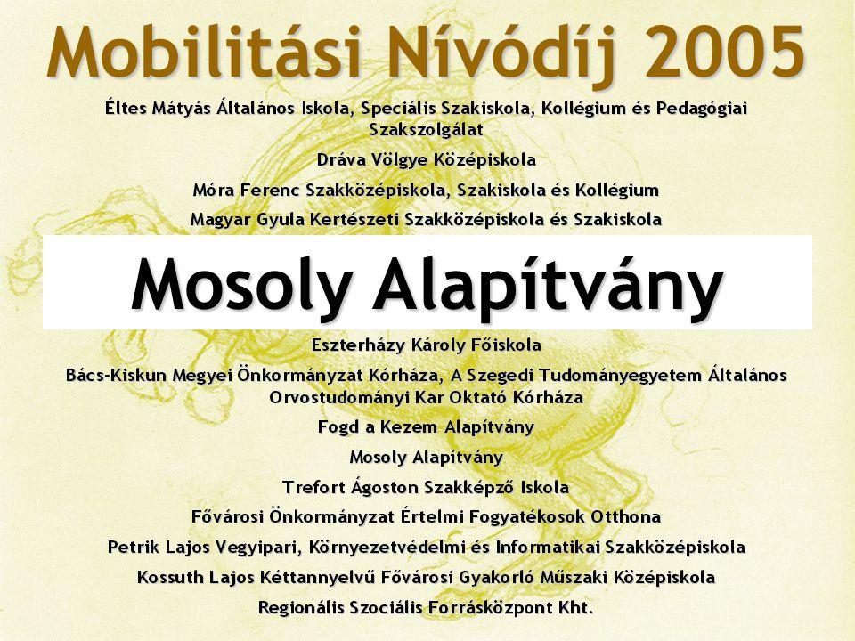 Mobilitási Nívódíj 2005 Trefort Ágoston Szakképző Iskola