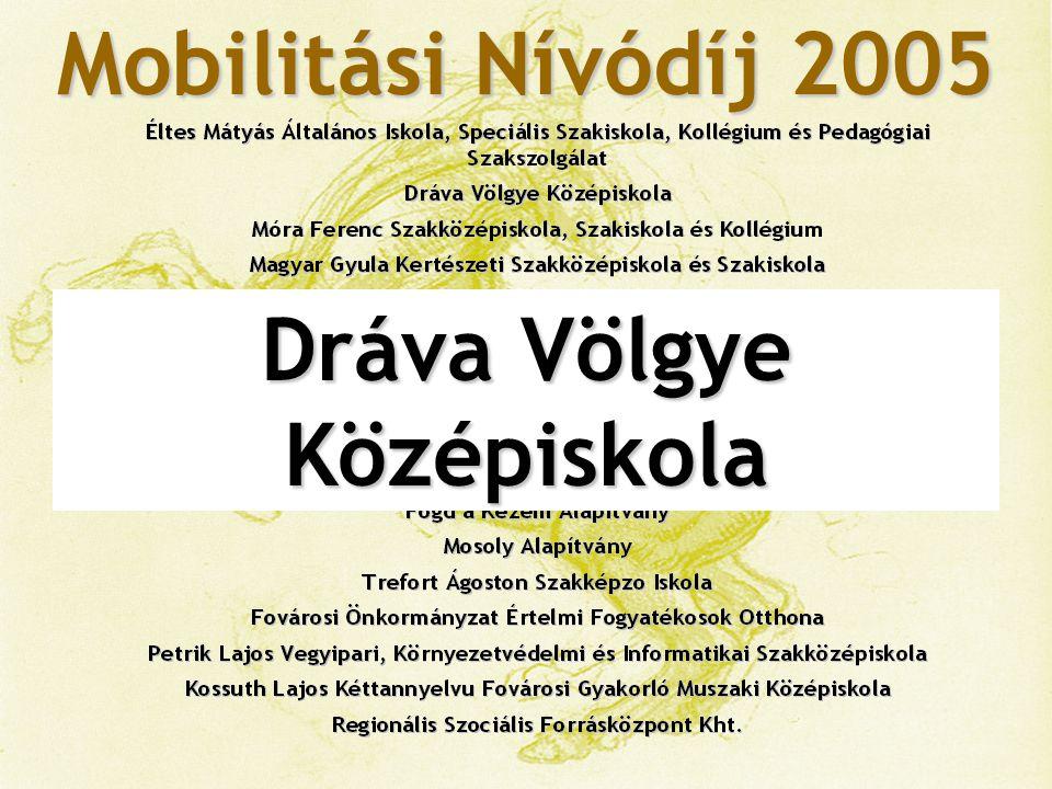 Mobilitási Nívódíj 2005 Móra Ferenc Szakközépiskola, Szakiskola és Kollégium